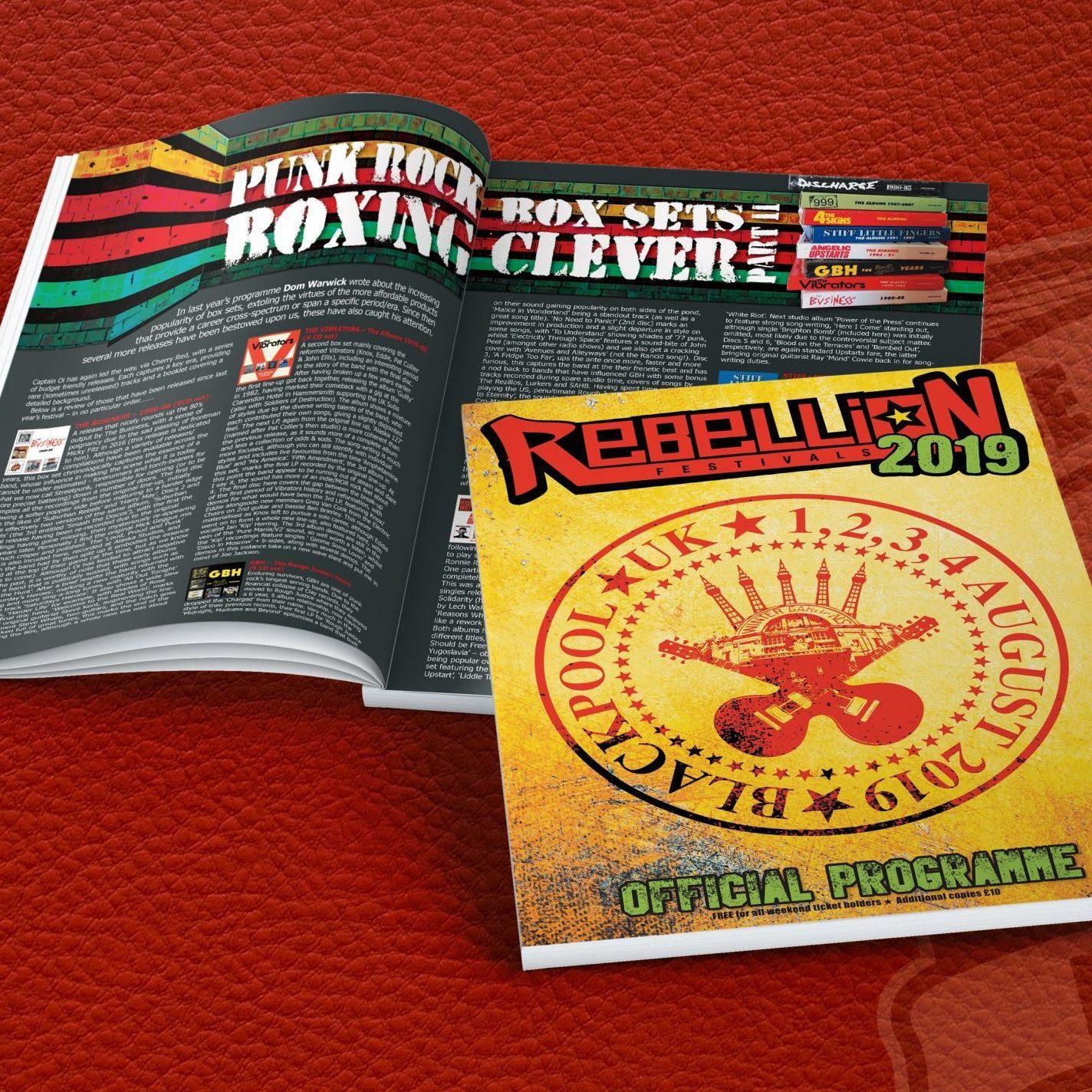 Rebellion Festival 2019 Programme